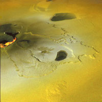An active volcanic eruption on Jupiter's moon Io was captured in 